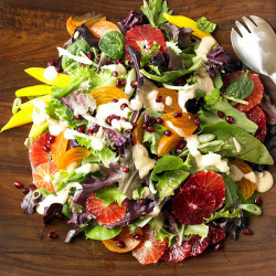 Persimmon, Blood Orange and Pomegranate Salad Source: Pinterest