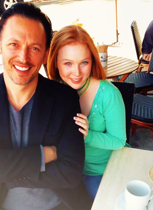fyeahmollyquinn:  Delightful brunch w/ @Stevevalentine Friend & mentor since AChristmasCarol & AvalonHigh. I'm lucky indeed.