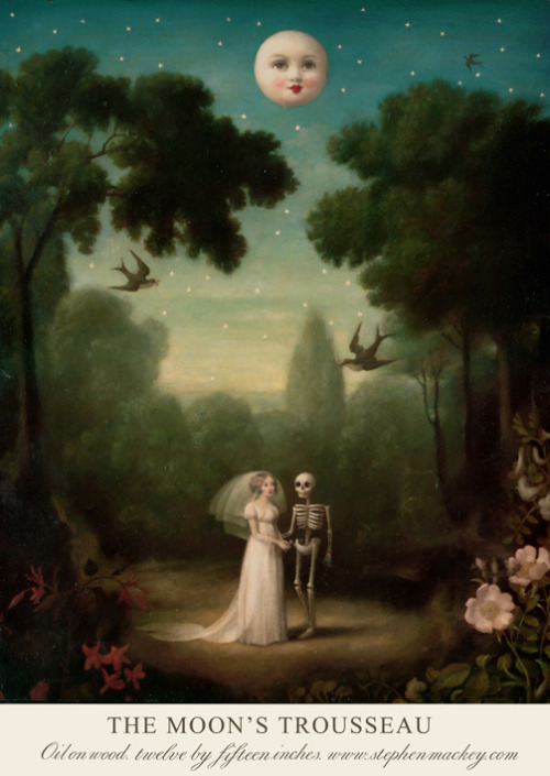 artisticmoods:  The Moon's Trousseau. By Stephen Mackey. Find ArtisticMoods on Facebook & Twitter.