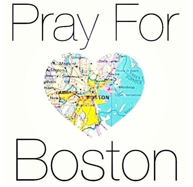 "coffeecocktail:  Pray for Boston. Last night after a day spent inside a set filming with no service we were completely unaware of the tragedy that had just hit the US. When we came outside and turned our phones on we were in complete shock. ""What's going on in Boston?"" As I kept reading my Twitter and Facebook feed I became more concerned. This one hit home as I've always been a big supporter of marathons since my father has been running them since he was a teen. He's run all the major marathons LA, Chicago, New York, and of course Boston. He's taught me to love the sport and admire all the runners who put themselves through all the amount of physical and mental preparation months and months prior to running those 26.2 miles. We always attend the Chicago Marathon, no matter if he runs or not. I've been a Chicago Marathon volunteer number of times and to think of all these innocent people who are finally close to crossing the finish line, pushing themselves harder and harder, and the next thing they know is that they will probably never run again because they've just lost a leg in the most horrifying way…There's no words to describe it. Who in the world would do such thing? Each time I watch the images I cry. Is this a terrorist attack? Is this another lunatic? In what world are we living in? We can no longer go to theaters to enjoy a movie, we can't even send our kids to elementary schools without being concern. For now, all we can do is pray for all the victims and pray for a better world, better people. When did we become so cold hearted? Why all this cruelty, why do we want to take each other out? What drives someone to commit such tragic acts? I hope they find all those responsible and I'm praying with all my heart for all the victims."