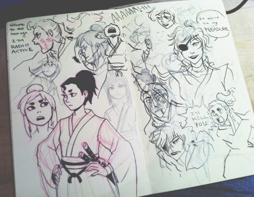 brainstorming for Westbound Samurai! Looks like Rin got Laura good