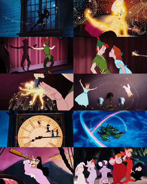 "vintagegal:  Disney's Peter Pan (1953) ""Second star to the right and straight on 'til morning."""