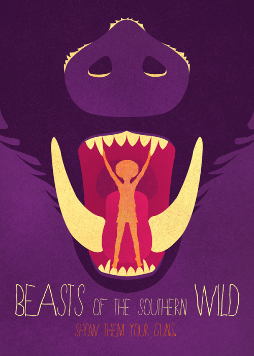 wordsandeggs:  Via minimalmovieposters:  Beasts Of The Southern Wild by Artur Mierzwa
