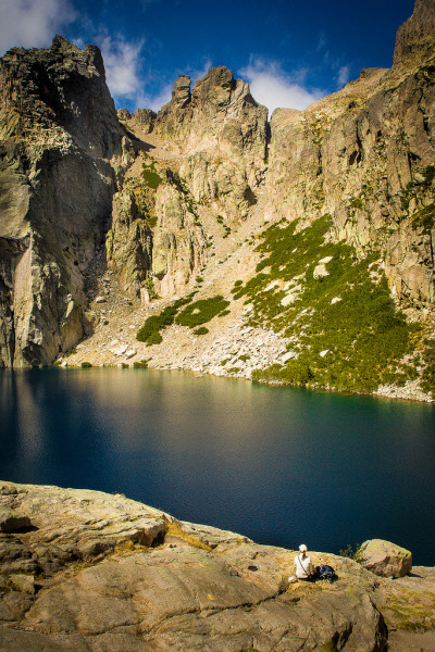 travelingcolors:  Break at Lac de Capitello, Corsica | France (by Gido Gerland)