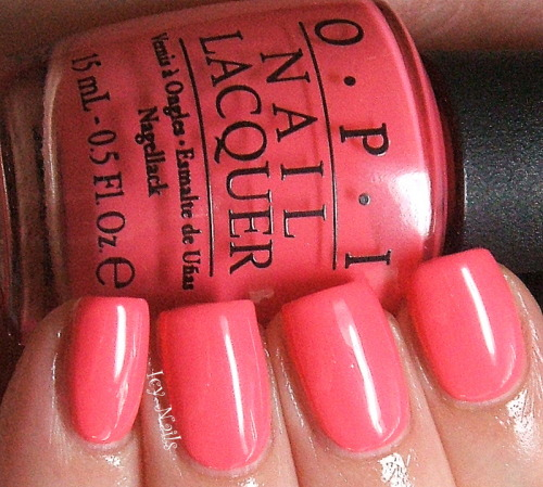 OPI Suzi's Hungary, Again. Coral-y pink creme. Hello Spring! Click through for my review of this polish.