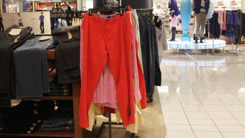 The Onion: Man Purchasing Pair of Red Pants Better Be Willing To Put Up Or Shut Up.