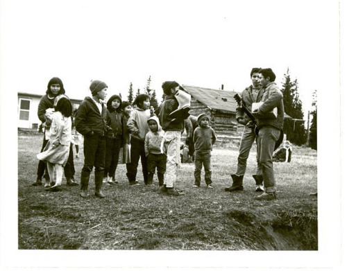 Children at Sandy Lake, Alberta, 1965.