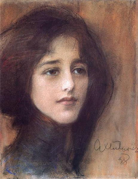 Portrait of a Woman,Teodor Axentowicz