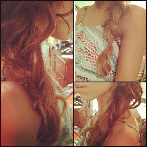 Hi #braid #me #curled #flowy #redhair #long #hair