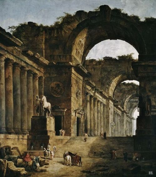 hadrian6:  The Fountains. 1787-88. Hubert Robert. French. 1733-1808. oil on canvas. Art Institute of Chicago.         http://hadrian6.tumblr.com