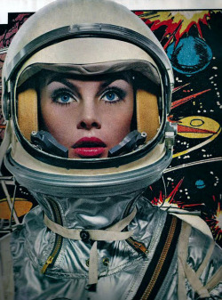 public-void:  Jean Shrimpton as an astronaut for Harper's Bazaar by Richard Avedon (1965)