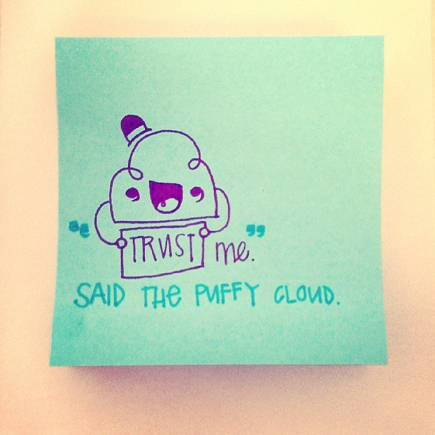 POST-IT tales. #postit #tales #clouds #littleHONEYvee