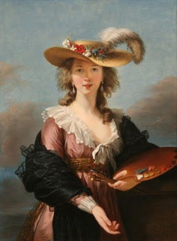 Louise-Elisabeth Vigée Lebrun (1755-1842), Self-Portrait in a Straw Hat, c.1782, National Gallery, London.