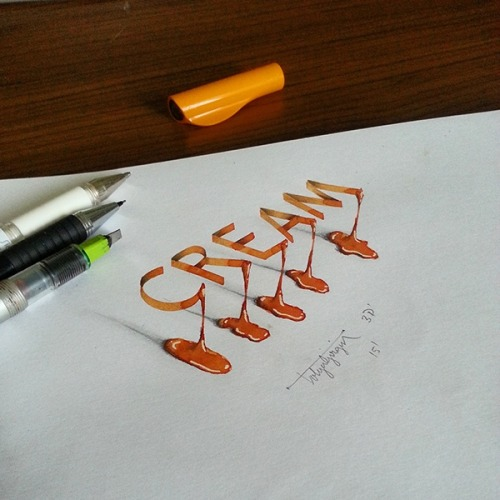 typeworship: Lettering to grab on to The optical illusion...