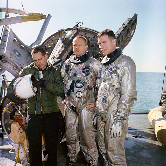 Gemini-Titan-8 Training - Water Egress by NASA on The Commons on Flickr.More space babes. Flickr Commons: the cure for what ails ya.