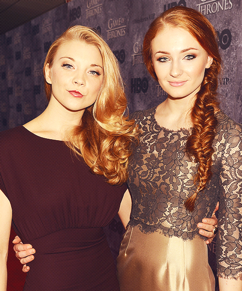 "Sophie Turner and Natalie Dormer at the HBO ""Game of Thrones"" Season 3 Seattle Premiere (x) - March 21, 2013"