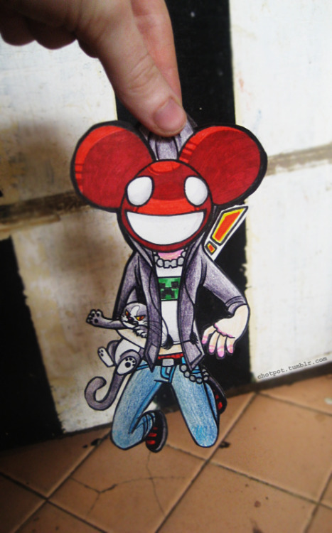 Mau5 in my Hau5, 2013! i posted this a while ago, and it helped me win a contest that deadmau5 held on facebook for his birthday that year. i really still like it and i love all of the attention it's gotten, so i decided to re-draw it!