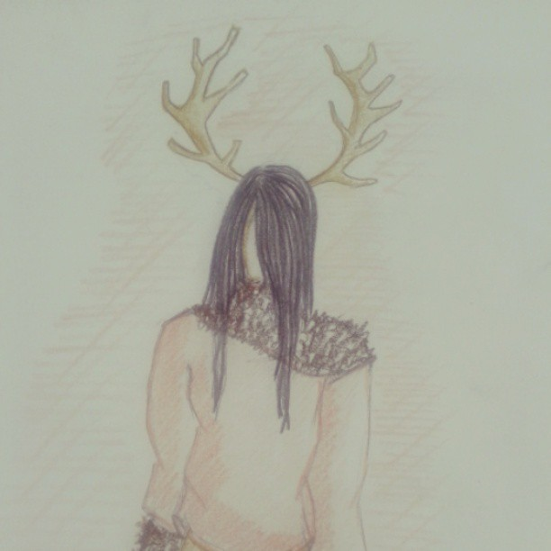 oh! deer #art #illustration  #girl #deer #moran