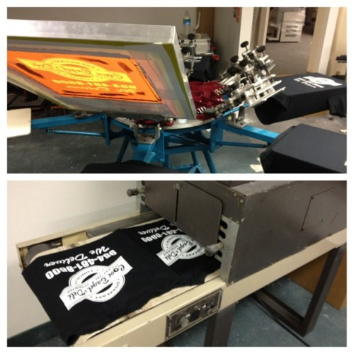 Getting some late night work done. #screenprinting #vilonious #gtps #dowork #swag  (at GTPS Media Inc.)
