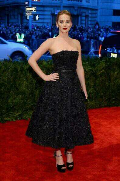 Jennifer Lawrence - Here is Jennifer Lawrence in @Dior at the 2013 #MetGala