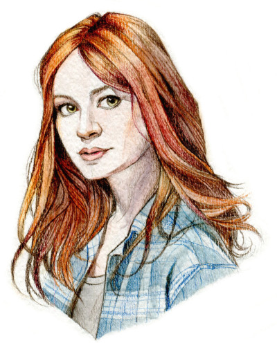 Amy pond watercolour