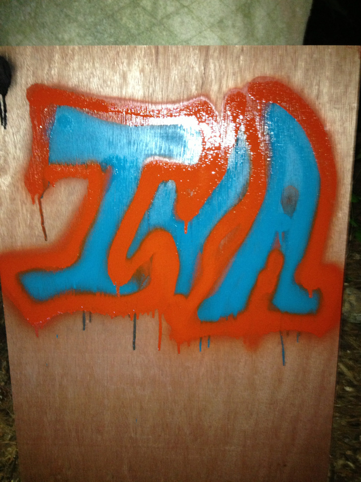 First attempt at graffiti. I think it came out pretty well… A little basic