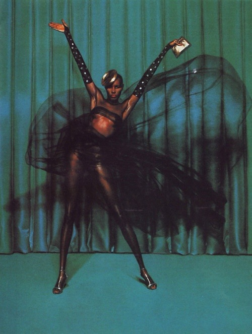 coughdropqueen:  Grace Jones, photographed by Jean-Paul Goude, 1980s
