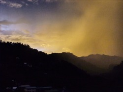 Storm is coming over Banaue, Philippines, summer 2012.