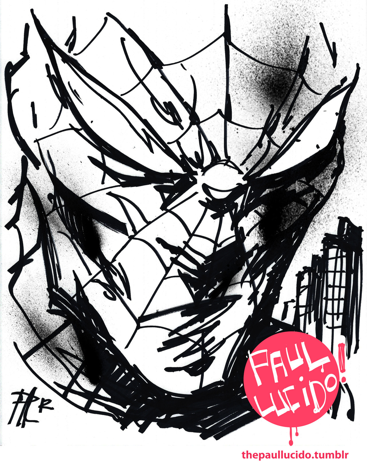 Spiderman! Ink and Brush