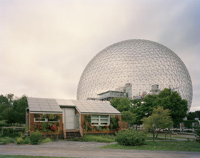 "WORLD'S FAIR RELICS  From Pete Brook's Wired article,""Trippy World's Fair Structures Are Relics of Forgotten Utopias"": ""Instead of cruising news feeds on your smartphone to learn about the latest technology, what if you had to wait years for the fair to come to town? For almost 150 years, that's exactly how innovation came to much of the global public via the World's Fair.  From purpose-built pavilions that stretch architectural norms, the human race experienced the wonderment of X-rays, Belgian waffles, alternating current, clothing zippers and ice cream for the first time. Today, the biggest news to come out of the World's Fair is that it still exists.    ""When the first World's Fair opened in London, countries competed to outdo one another with their pavilion buildings. They really were over-the-top events,"" says Jade Doskow, a New York photographer, who has spent six years travelling the globe to dozens of former World's Fair sites. There have been nearly 100 fairs since that first one in 1851.  You know more World's Fair structures than you think: Seattle's Space Needle, the Eiffel Tower, Treasure Island in the middle of San Francisco Bay, Mies Van Der Rohe's German Pavilion in Berlin (albeit reconstructed) and that big globe in Queens, New York from Notorious B.I.G.'s Mo Money Mo Problems music video.  Usually built for temporary use, World's Fairs' buildings tend to be torn down after the event. In cases where structures have survived, Doskow has routinely photographed sites that do not tally with their former grandeur and optimism; they stand as relics to utopian visions of the past."" http://www.wired.com/rawfile/2012/11/jade-doskow-worlds-fairs/?pid=4273 Check back tomorrow for images of the only remaining building from the 1939 New York World's Fair."