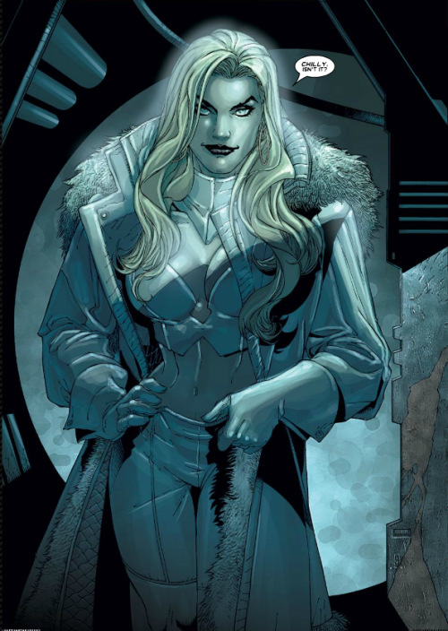 "Emma Frost. Frost. Ice. Cold. Chilly. ""Chilly, isn't it?"" -Dogpool"