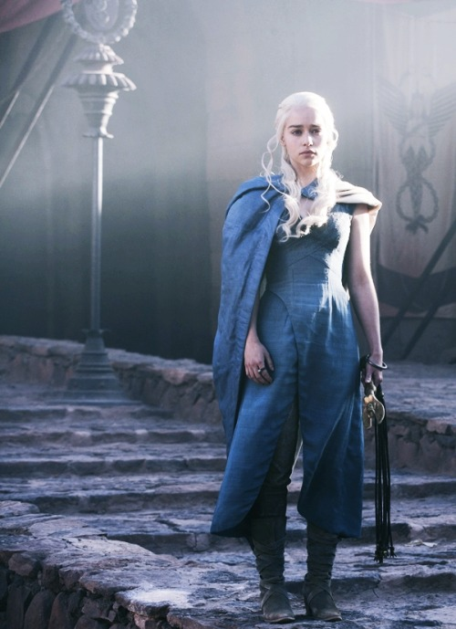 Daenerys Targaryen is no maid, however. She is the widow of a Dothraki khal, a mother of dragons and a sacker of cities, Aegon the Conqueror with teats…