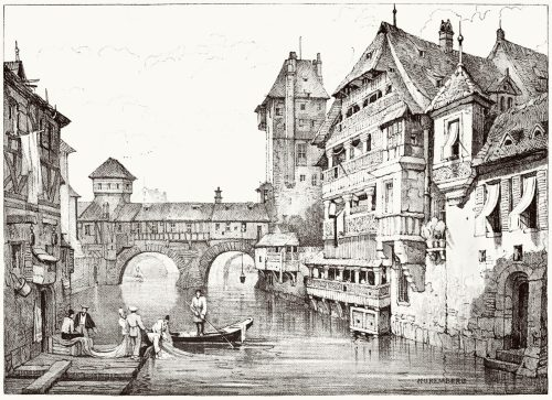Nuremberg.  Samuel Prout, from Sketches by Samuel Prout, by Charles Holme, London, 1915.  (Source: archive.org)