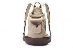 Wanderlust: Hillside British Backpack in tan canvas/leather by @GeorgeGuest