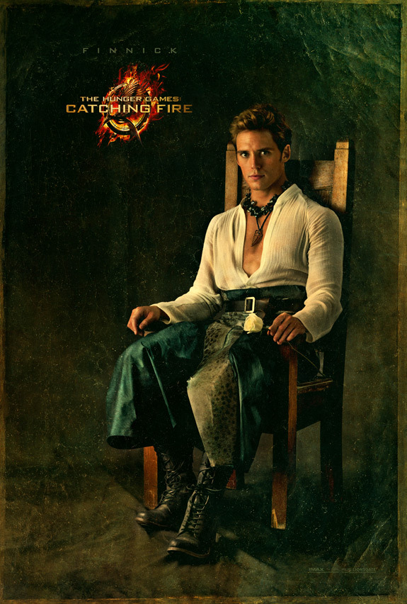 megsokay:  popculturebrain:  First Look at Sam Claflin as Finnick in Latest 'Catching Fire' Capitol Portrait | MTV  He is ridiculous and he is my lover.  He looks like he's in a community theatre production of The Tempest or something but it weirdly works.