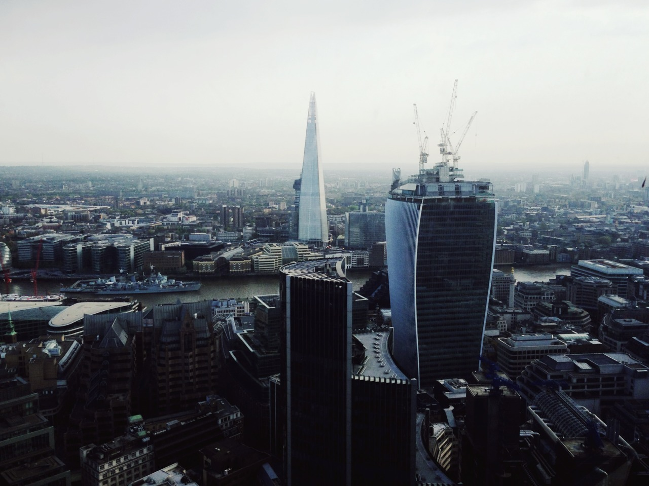View of London from the top of the Gherkin.