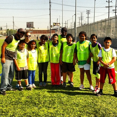 Had the chance to volunteer w/ @playworkssocal this weekend. Awesome kickball tournament.  (at Aspire The Tribe (Slauson, Tate, Inskeep))