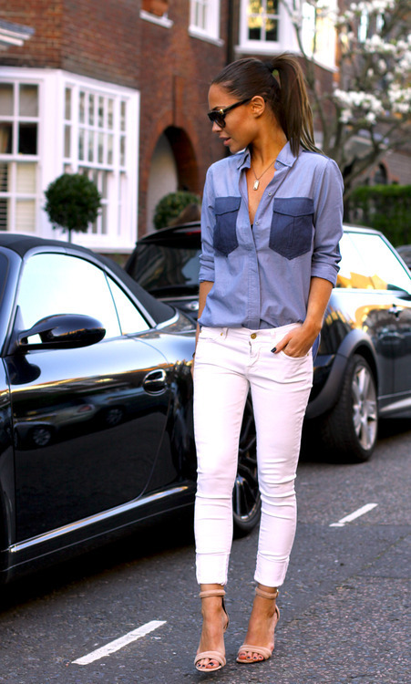 missoniqueen:  The Denim Shirt