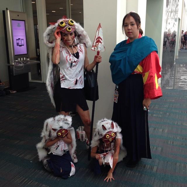 its princess mononoke and fem ashitaka and mini mononokes don_q_de_la_mancha cosplay
