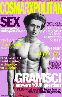 cosmarxpolitan:  Cosmarxpolitan, Issue 5 Your va-jay-jay called! It wants to talk about anarcho-syndicalism