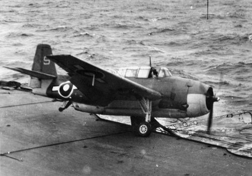 Grumman TBF Avenger…Image #3: A Fleet Air Arm Grumman Avenger of 820 Squadron about to fall over the side of HMS Indefatigable, 1945