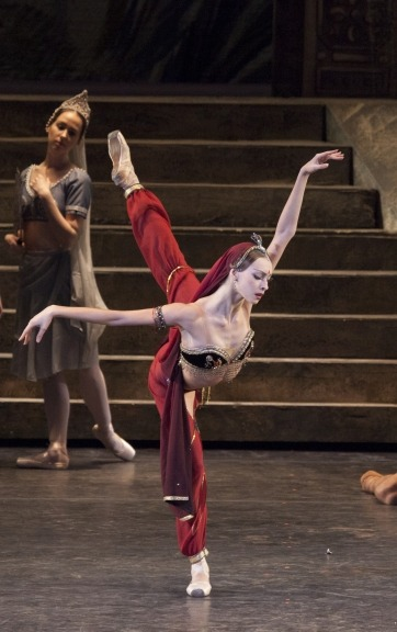 "LA MORT DE NIKIYA  Bolshoi's first soloist Olga Smirnova in act II of Yuri Grigorovich's ""La Bayadère"". Photo by Damir Yusupov."