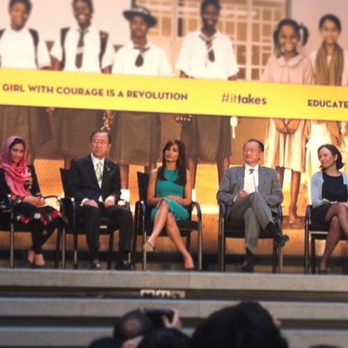 Jim Kim, Ban Ki-Moon, & Frieda Pinto // Girl Rising screening (at World Bank)
