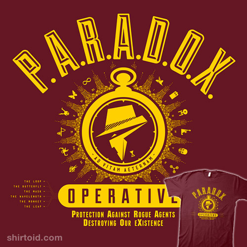 shirtoid:  P.A.R.A.D.O.X. Operative by Barn Bocock is available at HtCRU