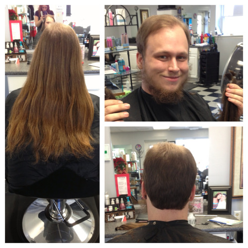 My client Dorian donated to locks of love.