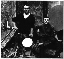 i12bent:  Jean Tinguely and Yves Klein, up to some mechanical no-good…