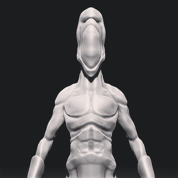 Trying to get better at sculpting anatomy from scratch. Gonna post a time lapse of this tomorrow on Vimeo.com/steveteeps