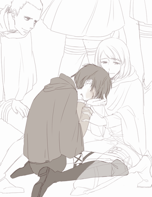 heichougasuki:  Eren… Don't cry, Eren. That's right. Tsk. Brat… Eren… Thank you for believing in us till the end. Keep on alive…