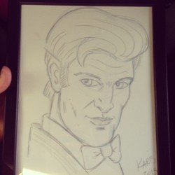 Adam's dad bought me a drawing of the eleventh doctor!