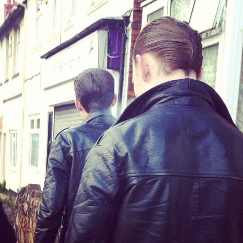 oopsiecool:  Dudes. @jack_starling #rockabilly #greaser #DA